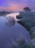 kolorowa jutrzenkowa rzeka Obrazy Stock