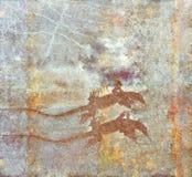 Kolorowa kamień powierzchnia z dwa jaszczurka kształtami Fotografia Stock