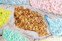 Kolorowa kamienia bloku ściana Obrazy Stock