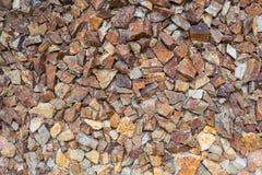 Kolorowa kamiennej ściany tekstura Obrazy Stock