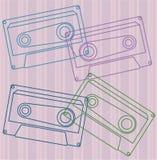 Kolorowa kaseta Obrazy Royalty Free