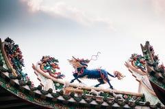Kolorowa Kirin statua w chińskiej świątyni, orientalny święty niebo zdjęcie royalty free