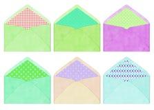 Kolorowa koperta, rocznika styl Obraz Royalty Free