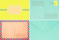 Kolorowa koperta, rocznika styl, trend, styl Obrazy Stock