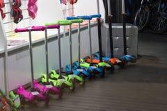 Kolorowa kopnięcie hulajnoga Obrazy Stock