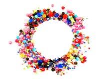 Kolorowa koralika okręgu kształta przestrzeń dla fotografii lub teksta Zdjęcie Stock