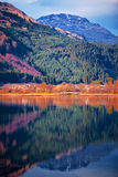 Kolorowa krajobrazowa sceneria wzgórze góra i skłon Zdjęcia Stock