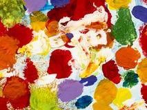 Kolorowa kreatywnie abstrakcjonistyczna ręka malujący tło Zdjęcia Royalty Free