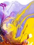 Kolorowa kreatywnie abstrakcjonistyczna ręka malujący tło, marmurowy textu royalty ilustracja