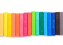 Kolorowa kreda odizolowywająca zdjęcia stock