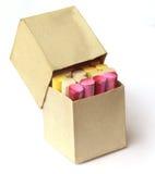 Kolorowa kreda w pudełku obrazy royalty free