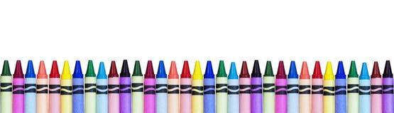 Kolorowa kredki granica Zdjęcia Royalty Free