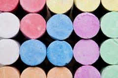 Kolorowa kredki tekstura Zdjęcia Stock