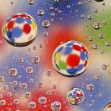 kolorowa kroplę wody Obrazy Royalty Free