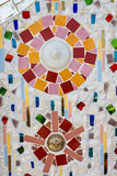 Kolorowa krystaliczna tło sztuka Phasornkaew Świątynny Khao Kho, Phe Zdjęcia Royalty Free