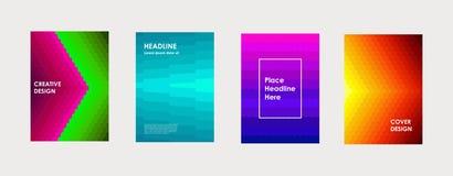 Kolorowa książka lub korporacyjny broszurki pokrywy projekta szablon ilustracji