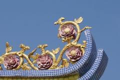 Kolorowa kwiat rzeźba zdjęcie stock