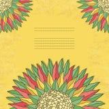 Kolorowa kwiecista karta Zdjęcia Stock