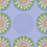 Kolorowa kwiecista karta. Wiosna wektoru szablon. Obrazy Royalty Free