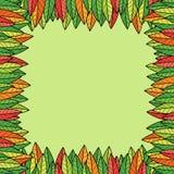 Kolorowa liścia abstrakta rama Obrazy Royalty Free