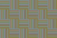 Kolorowa linia czerwona żółta zieleń paskował kwadratowego pudełka wzoru tło Fotografia Stock