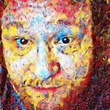 Kolorowa mężczyzna twarz royalty ilustracja