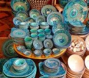 Kolorowa marokańska ceramika zdjęcia royalty free