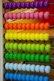 Kolorowa matematyka z abakusem fotografia stock