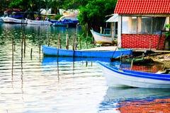 Kolorowa Meksykańska Nieociosana łódź zdjęcie royalty free