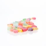 Kolorowa miękka część galaretowacieje cukierku zakończenie Zdjęcia Stock