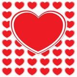 Kolorowa miłości pocztówka Zdjęcia Royalty Free