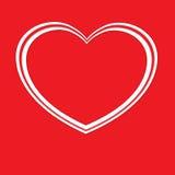 Kolorowa miłości pocztówka Obrazy Stock
