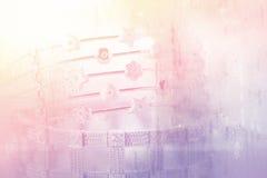 Kolorowa miękka plama diamentu bransoletka Fotografia Stock