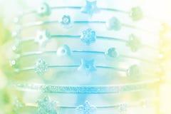 Kolorowa miękka plama diamentu bransoletka Obrazy Stock