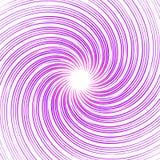 Kolorowa monochromatyczna abstrakt spirala, zawijasa tło zniekształca ilustracja wektor