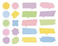 Kolorowa mowa gulgocze, marża balony z wzorem Obraz Stock