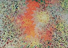 Kolorowa mozaika posadzkowa lub ścian tła Fotografia Stock
