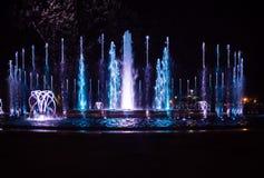 Kolorowa muzykalna fontanna Zdjęcie Royalty Free