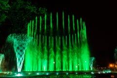 Kolorowa muzykalna fontanna Obraz Stock