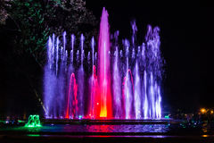 Kolorowa muzykalna fontanna Obraz Royalty Free