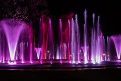 Kolorowa muzykalna fontanna Obrazy Stock
