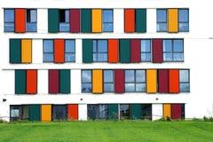 Kolorowa nadokienna fasada Obrazy Royalty Free