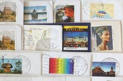 Kolorowa niemiec stemplujący znaczki pocztowi Obrazy Royalty Free