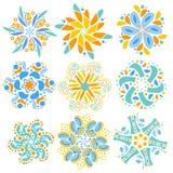 Kolorowa nowożytna ornament kolekcja Zdjęcie Stock