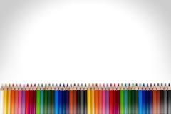 Kolorowa ołówek rama 05 Obrazy Royalty Free