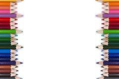 Kolorowa ołówek rama 07 Obrazy Royalty Free