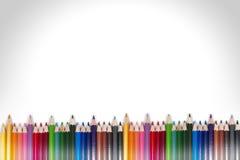 Kolorowa ołówek rama 08 Obraz Stock