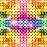 Kolorowa olśniewająca dyskoteka zaświeca abstrakcjonistycznego tło ilustracja wektor