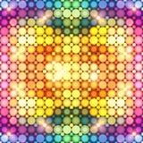 Kolorowa olśniewająca dyskoteka zaświeca abstrakcjonistycznego tło royalty ilustracja