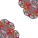 Kolorowa ornamentacyjna etniczna karta z mandala Obrazy Royalty Free